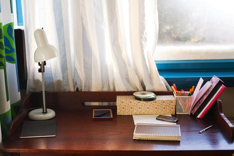 Download Home desk stock image. Image of study, writing, wooden - 31884081