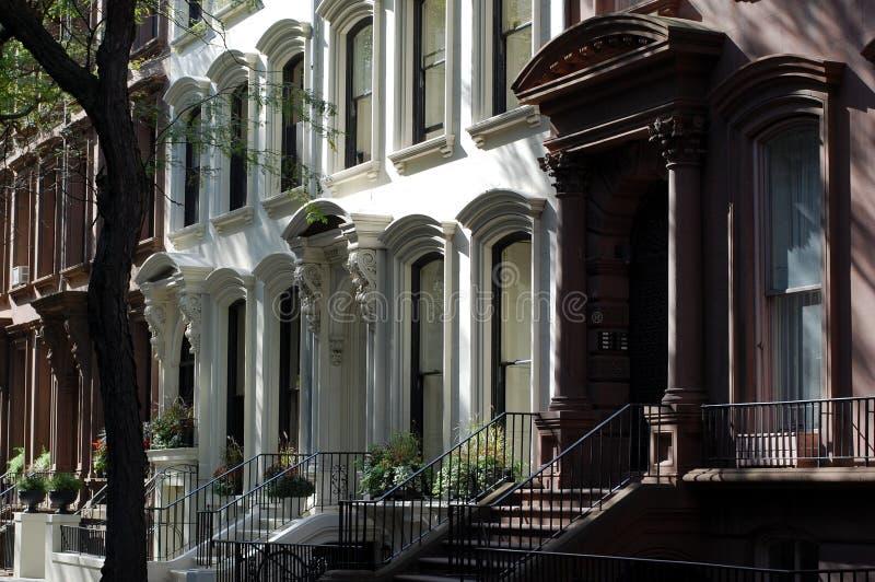 HOME do Brownstone, alturas de Brooklyn, New York City foto de stock royalty free