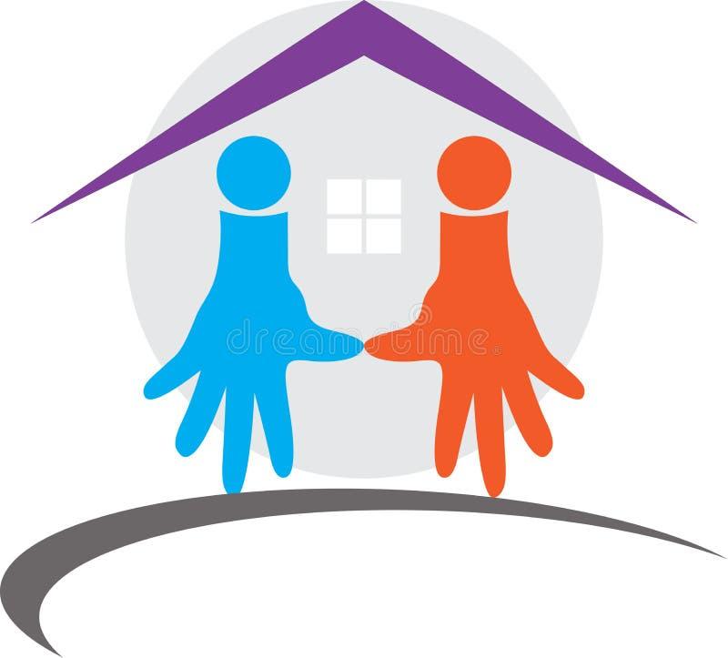 HOME do cuidado ilustração stock