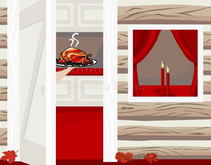HOME do feriado ilustração stock