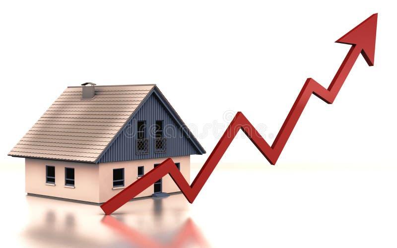 HOME do gráfico da propriedade ilustração stock