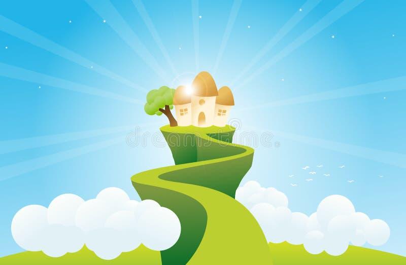 HOME do Highrise ilustração stock