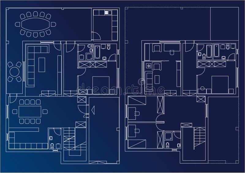 HOME do modelo ilustração do vetor