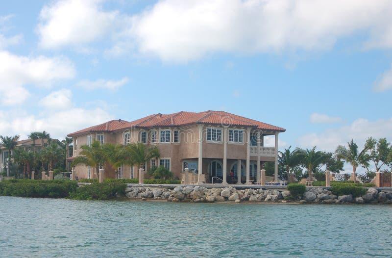 HOME do Oceanfront fotos de stock royalty free