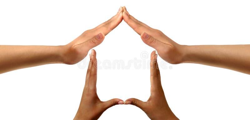 HOME do símbolo fotografia de stock royalty free