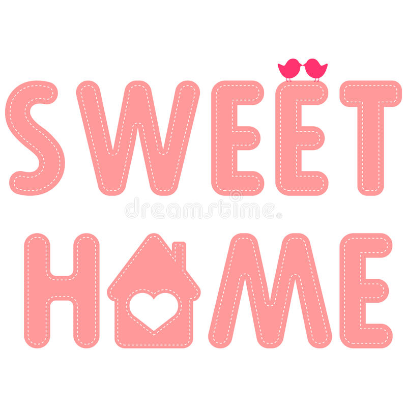 HOME doce ilustração royalty free