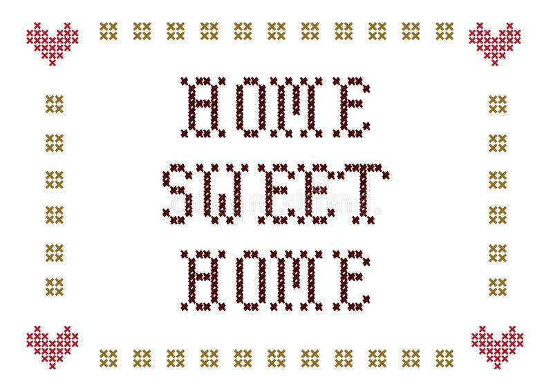 HOME doce Home ilustração stock