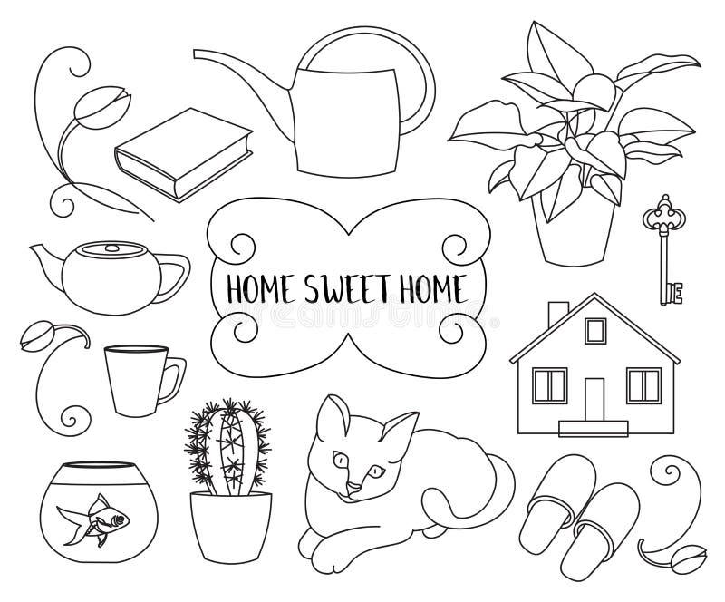 HOME doce Home ilustração royalty free