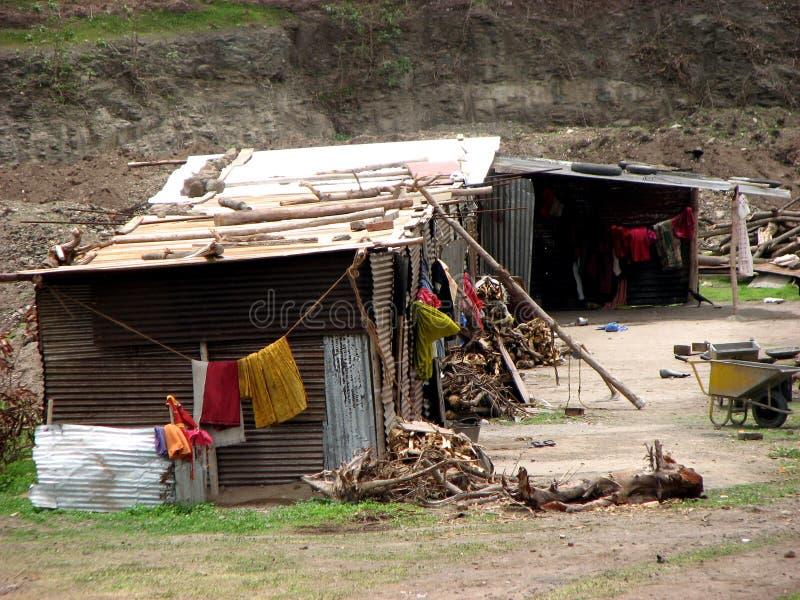 HOME dos pobres imagem de stock