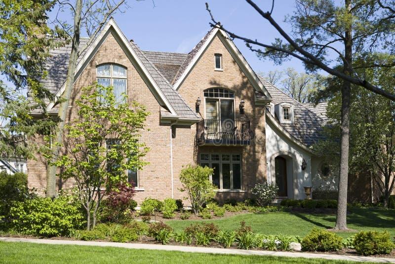 HOME e jardim americanos. fotografia de stock