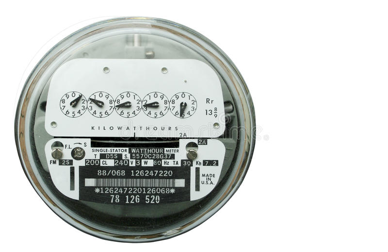 Home electric power meter royalty free stock image