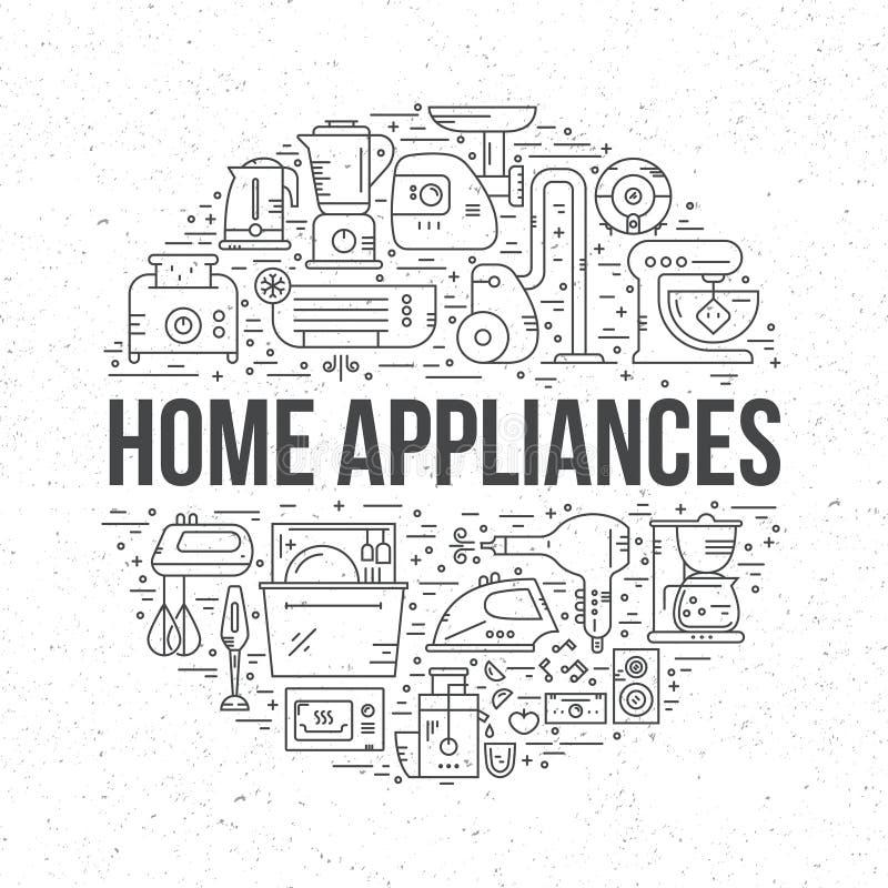 Home Electronics royalty free illustration