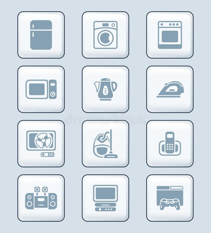 Download Home Electronics Icons | TECH Series Stock Vector - Illustration: 25261437