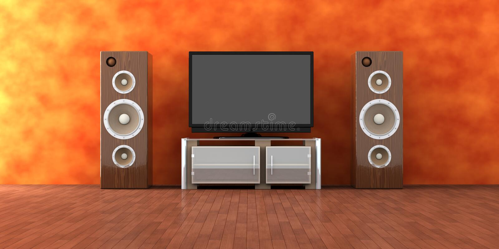 Download Home Entertainment System stock illustration. Image of equipment - 3433299