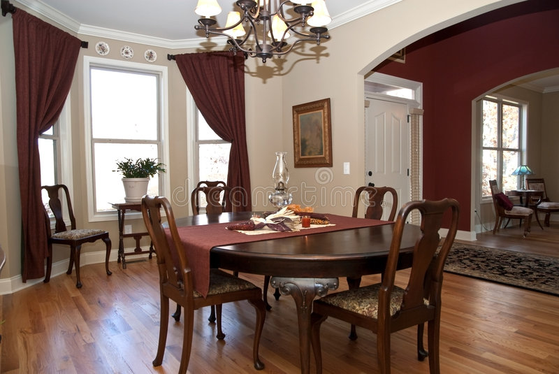HOME/entrada/sala de jantar modernas fotografia de stock royalty free