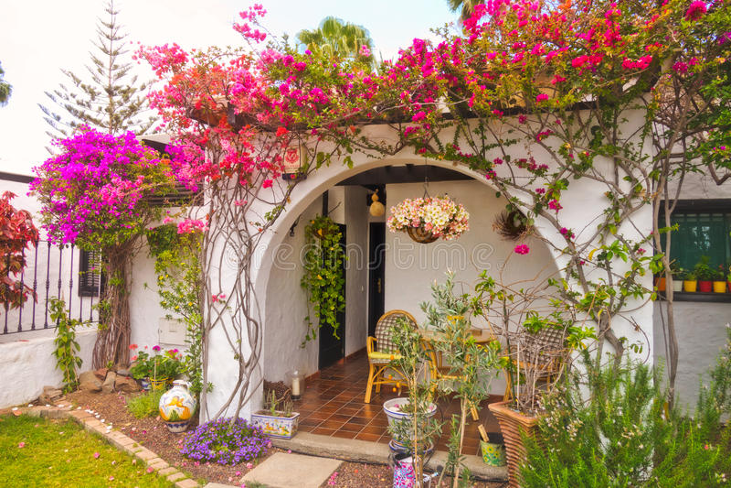 Home entrance in Gran Canaria stock photography