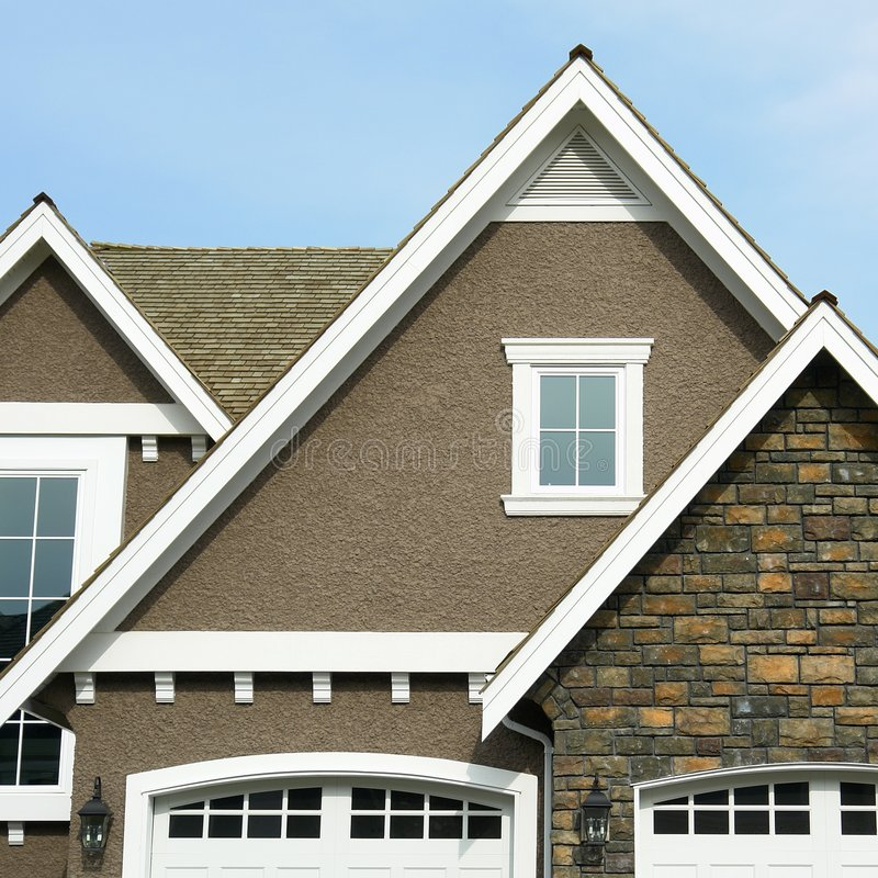 Free Home Exterior House Roof Peak Stock Image - 5151031