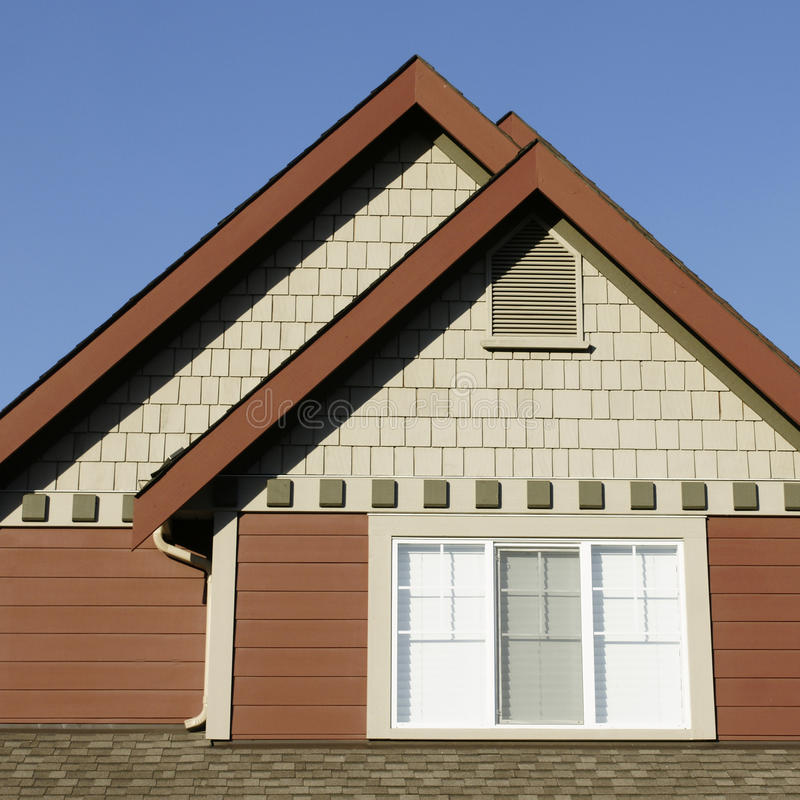 Home Exterior Roof stock photo