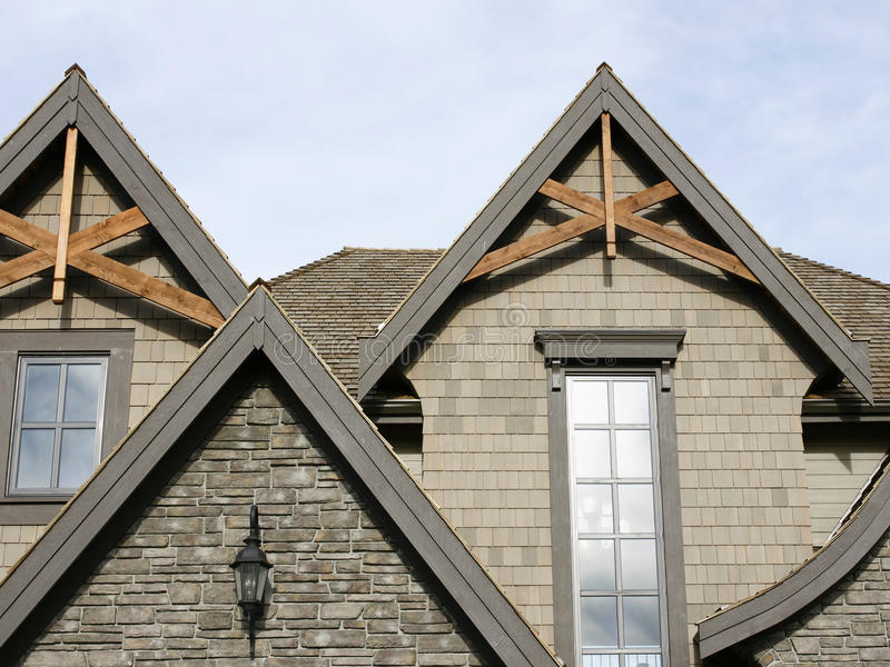 Home Exterior Roof Details stock photography