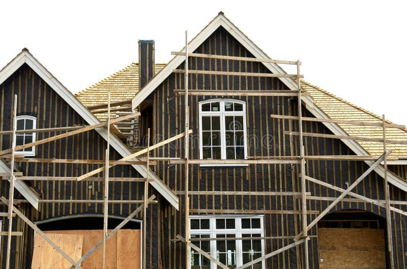 Home Exterior Under Construction royalty free stock photos