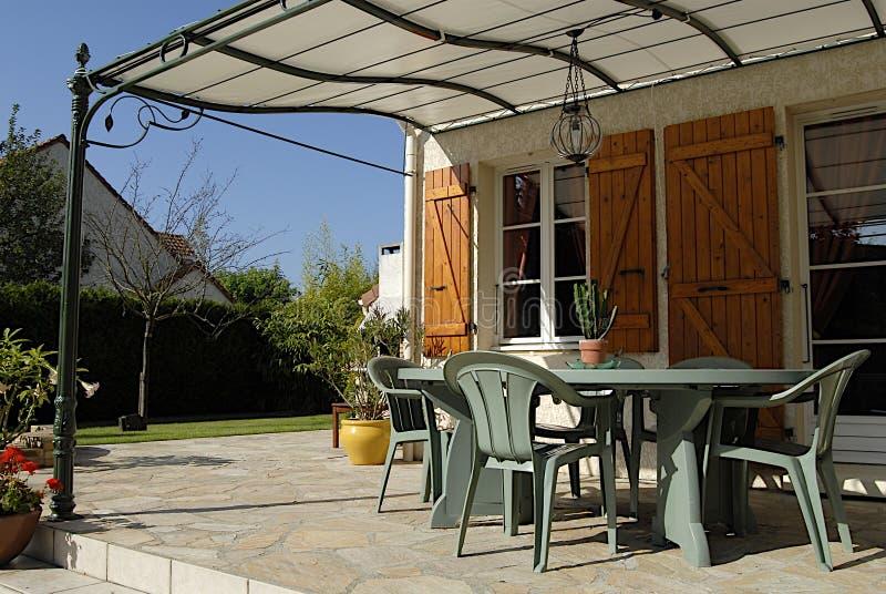 Home exteriors royalty free stock photos