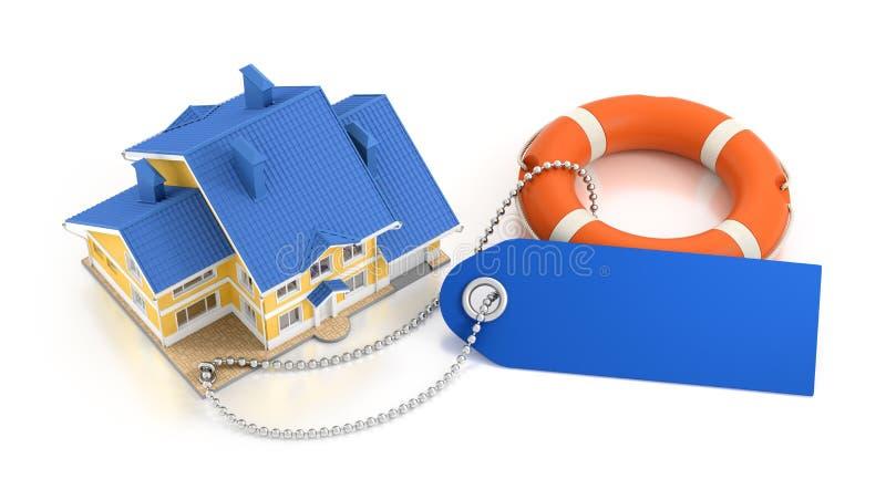 home försäkring royaltyfri illustrationer