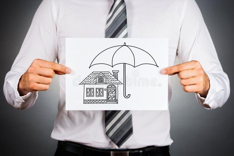 home försäkring för begrepp royaltyfria foton