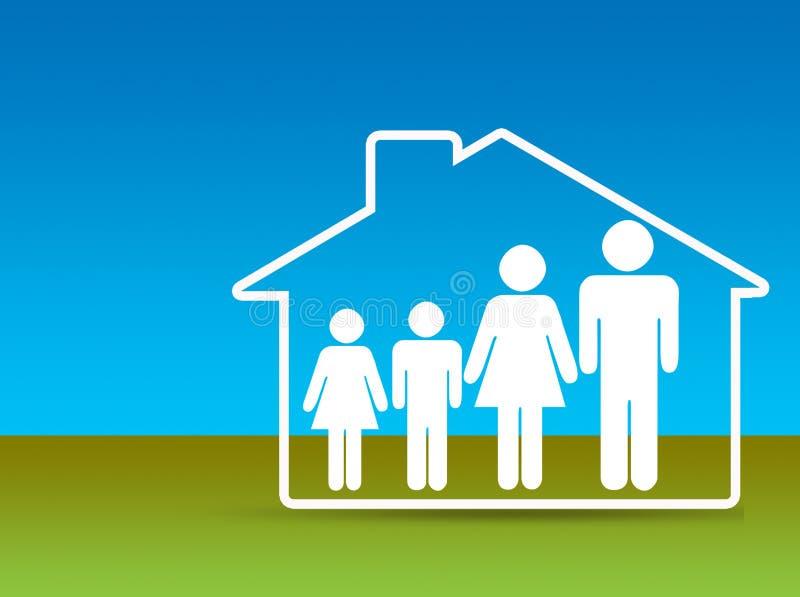 home försäkringsäkerhet royaltyfri illustrationer