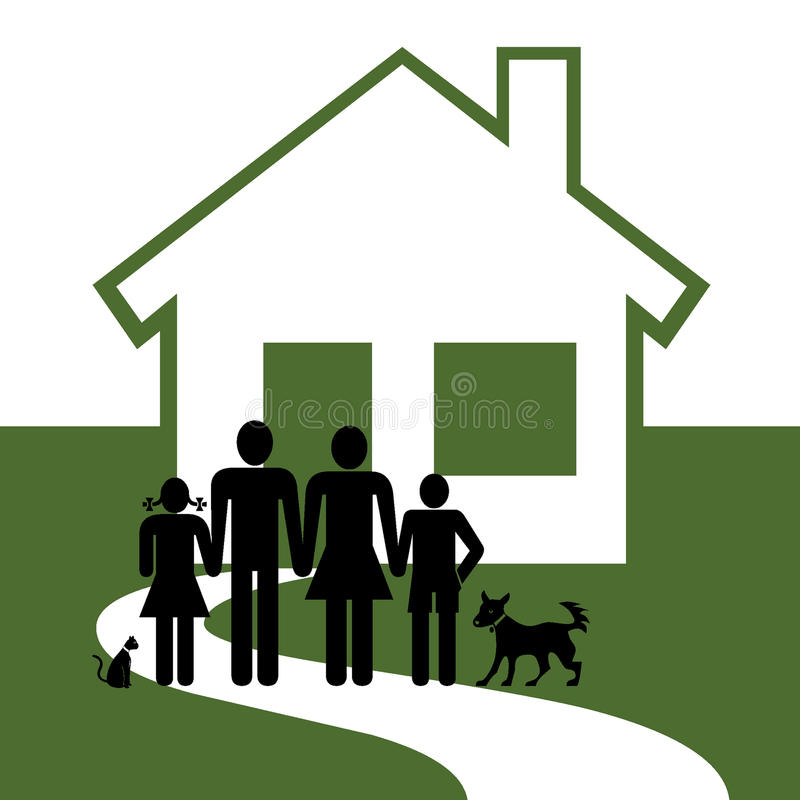 Download Home and family stock illustration. Image of building - 12698534