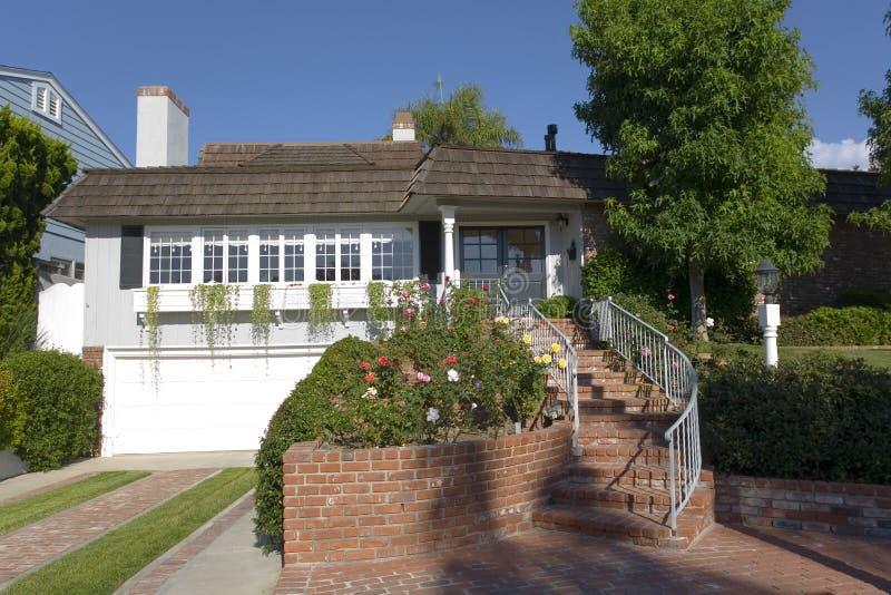 HOME feita sob encomenda na praia de Newport, CA fotografia de stock royalty free