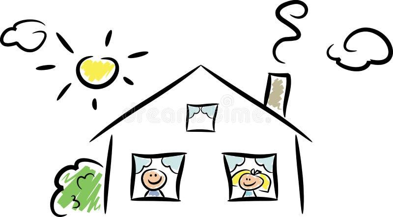HOME feliz (ii) ilustração do vetor