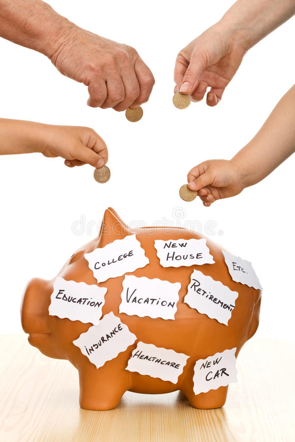 Home finances concept stock photo