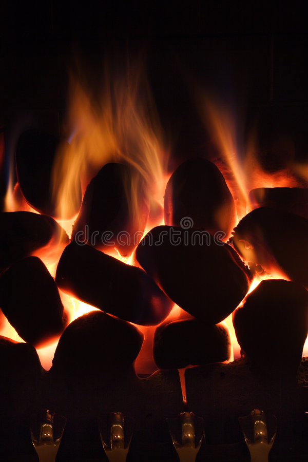 Download Home Gas fire stock image. Image of comfort, burn, coal - 427963
