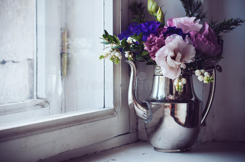Home floral decor royalty free stock photo