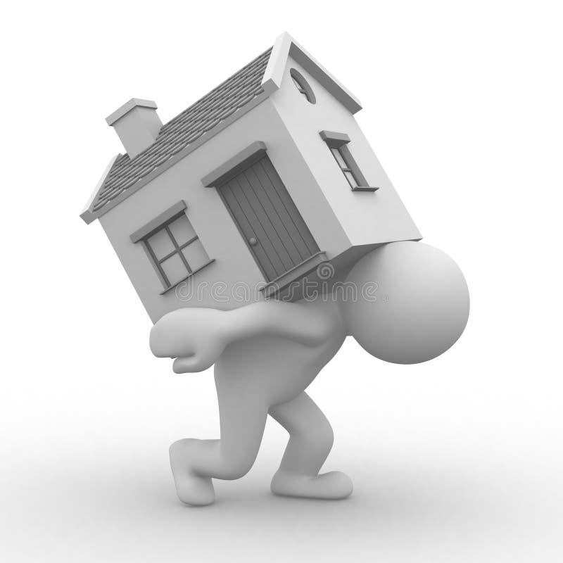home flytta sig stock illustrationer
