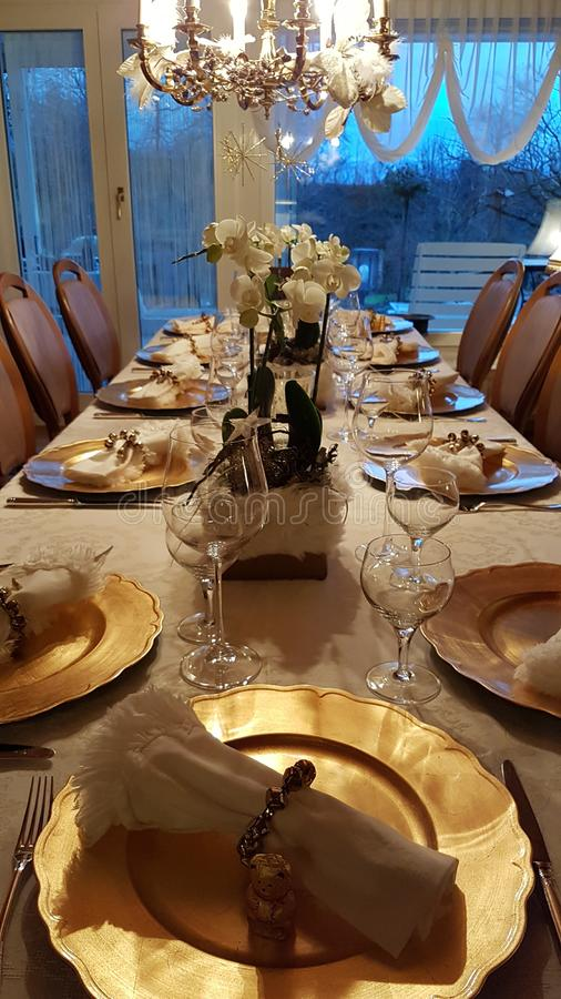 Free Home For Christmas Festive Dinner Stock Photos - 168024123