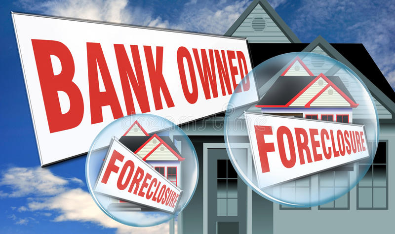 Download Home foreclosed by bank stock illustration. Image of repayments - 26503947