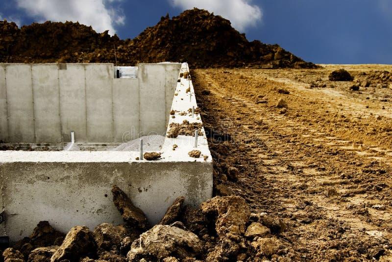 Home Foundation Construction royalty free stock photos