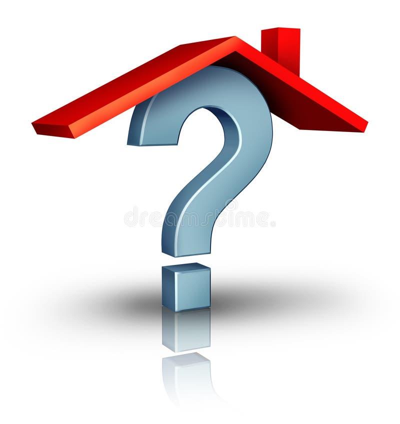home frågor stock illustrationer