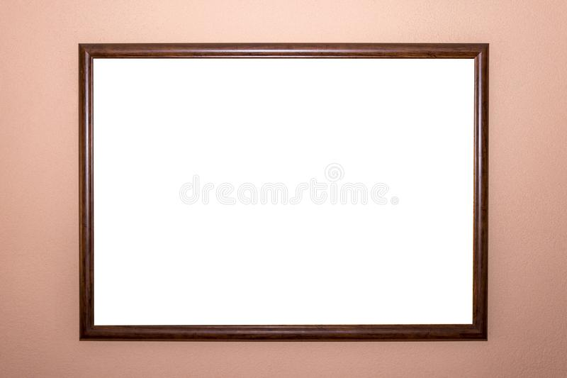 Home picture frame minimal design white isolated clipping path template. Home picture frame wall ornate minimal design white isolated clipping path template royalty free stock image