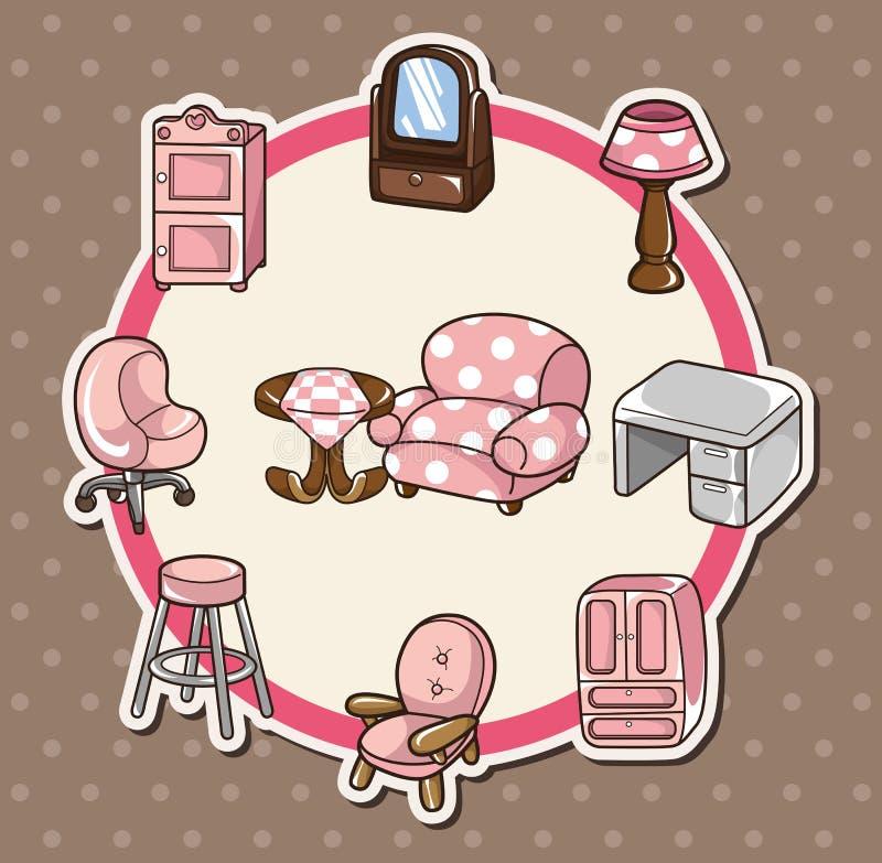 Home furniture card stock illustration