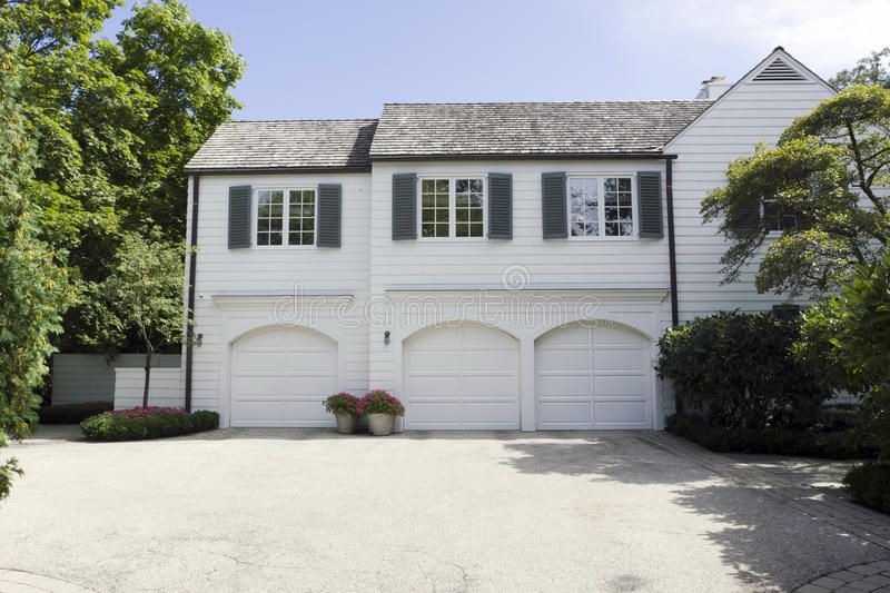 Home with Garage royalty free stock photos