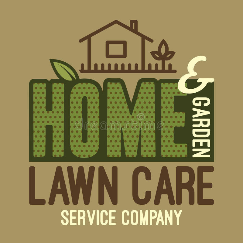 Home and garden lawn care t-shirt royalty free illustration