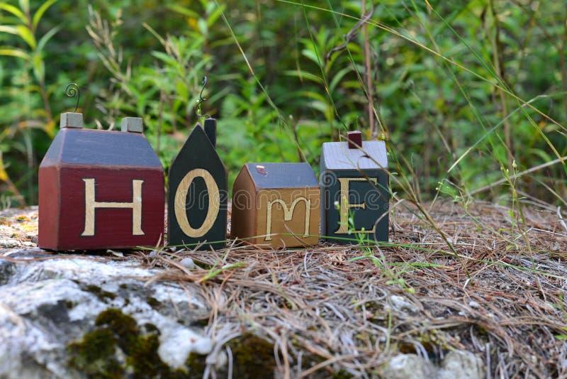 Home in the garden stock photos