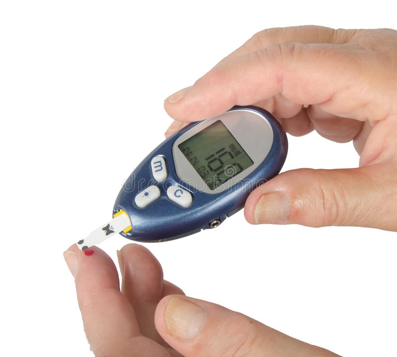 Home glucose meter stock photography