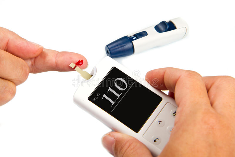 Home glucose meter royalty free stock image