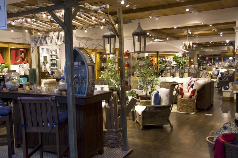 Home Goods Furniture Store Stock Image