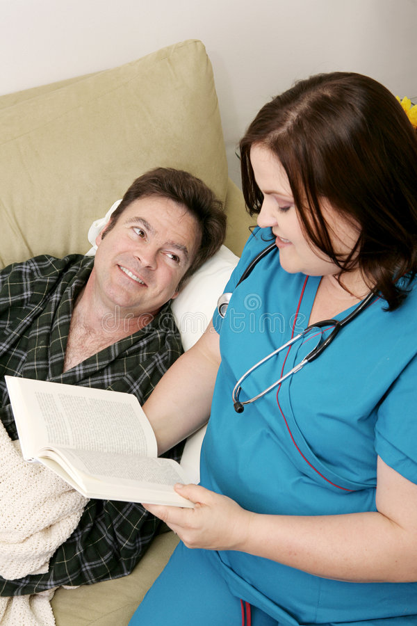 Download Home Health - Reading stock image. Image of blanket, nurse - 3342939