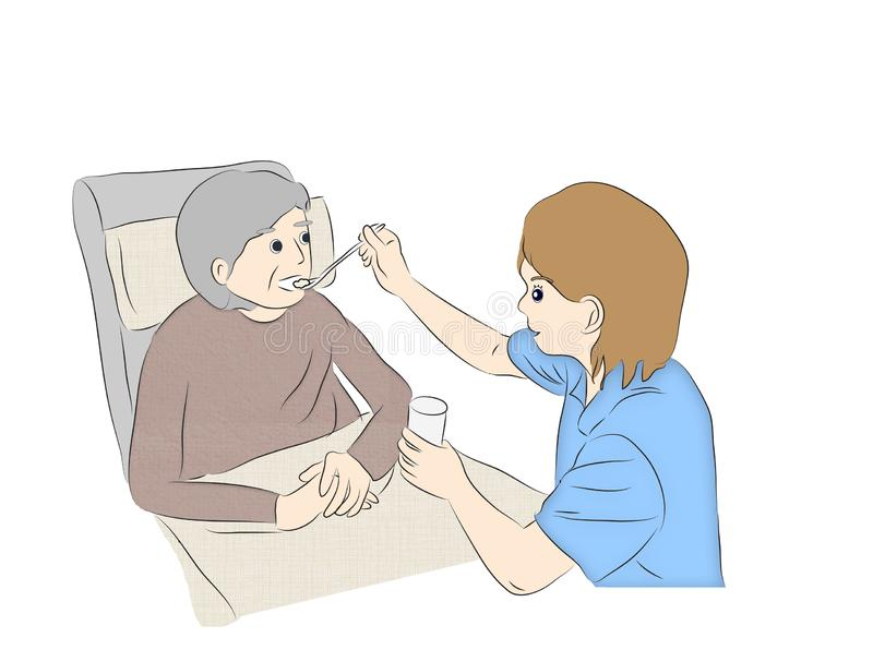 Home Healthcare Care Support,Caring for seniors stock photography