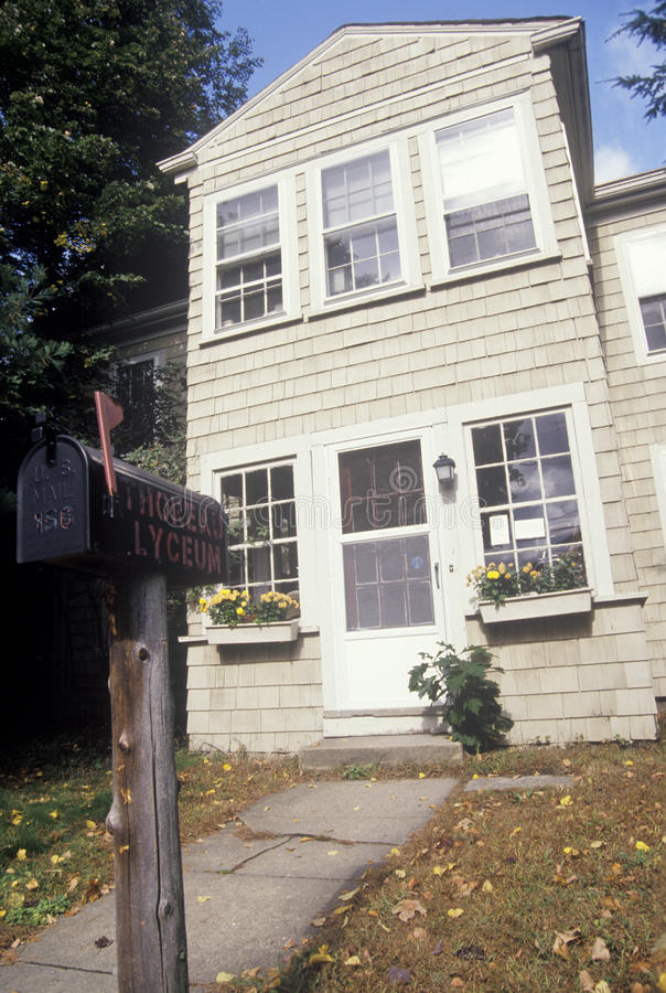 Home of Henry David Thoreau,. Concord, MA stock image